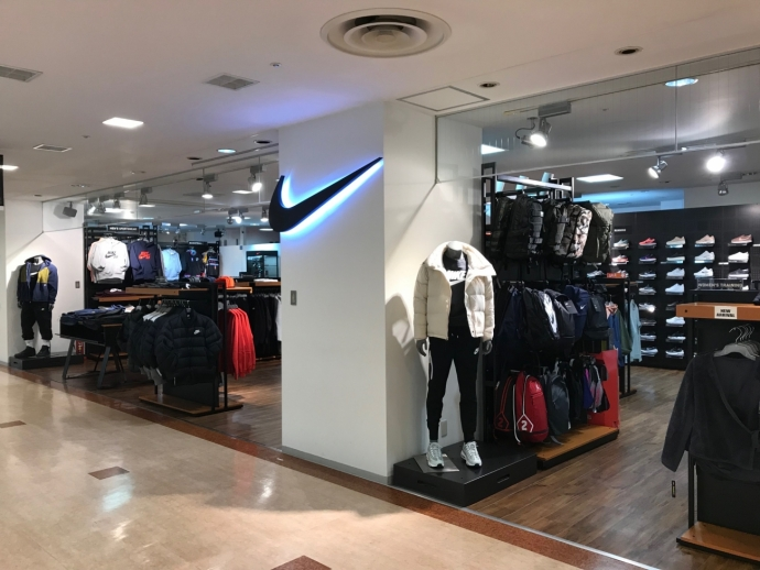 From Article 2 building 1F Nike shop news