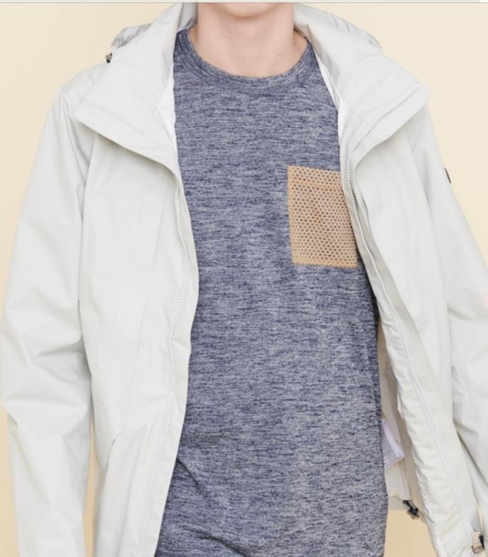 여름에 최적의 큐스이소쿠켄세이와 UV 케어 기능을 가지는 크루 넥 T셔츠