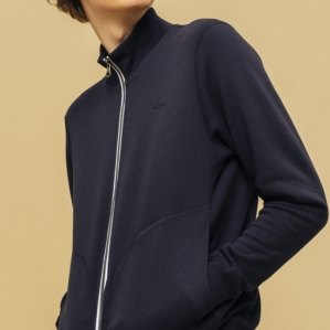 Standard zip up sweat shirt which we renovated with icon of double tripe